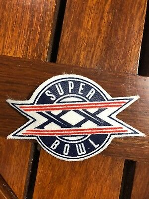 Super Bowl Xx Chicago Bears/new England Patriots Sew On Patch 3 1/4 Inch