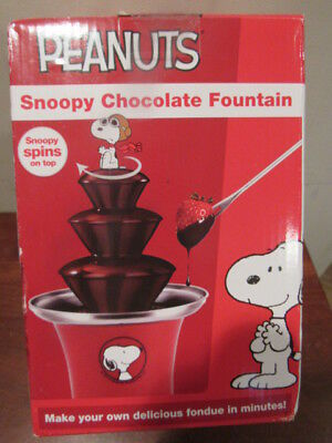PEANUTS Snoopy Chocolate Fountain by Planet Smart ELECTRIC ~ New ~ Red