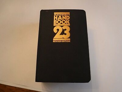 Machinery's Handbook Toolbox edition, 23rd  edition