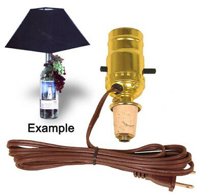 M993N Wine Bottle Lamp Kit Pre-wired and Ready to Use -No Bottle Drilling Needed