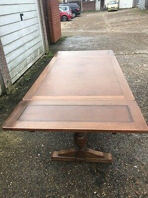 Vintage Oak Drawer Leaf Table