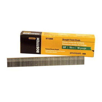 Bostitch BT1300B 18-Gauge 5/8 in. Chisel-Point Brad Nails (3,000-Pack) New