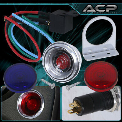 Push To Start Engine Starter Staring Kit Button Switch W/ Changeable Led 12V