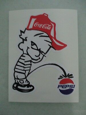 Coca-Cola Piss On Pepsi Vinyl Sticker
