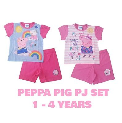 Girls Baby PJs Peppa Pig Pyjamas Pajamas Short Sleeves Summer Set Pj