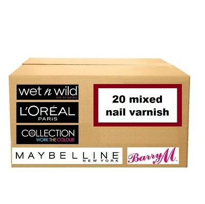 20 nail varnish polish WHOLESALE JOBLOT loreal barry m maybelline collection new