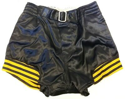 Felco Athletic Wear Button Fly Belt Paded Basketball Shorts Vintage Vtg 30s 40s