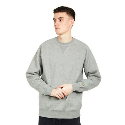 Carhartt WIP - Chase Sweat Grey Heather / Gold Pullover Rundhals