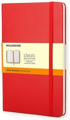 Moleskine Classic Notebook, Pocket, Ruled, Red, Hard Cover (3.5 x 5.5) [New Book