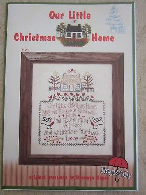 Red Brolly BRONWYN HAYES Stitchery Pattern OUR LITTLE CHRISTMAS HOME NO 4