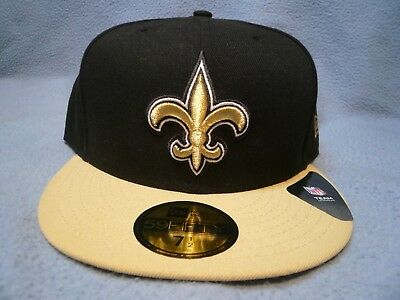 newest ea4e7 c2c4d New Era 59fifty New Orleans Saints BRAND NEW fitted cap hat black NFL  Football