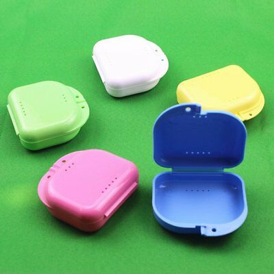 Dental Orthodontic Retainer Denture Storage Case Box Mouthguard Container Tray T