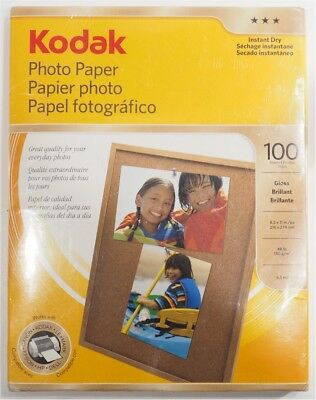 "NEW Kodak Photo Paper for Inkjet Printer *8-1/2""x11"", Gloss, 100 Sheet, 48 lb*"