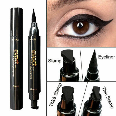 Winged Stamp Eyeliner Waterproof Makeup Eye Liner Pencil Black Liquid Cosmetic