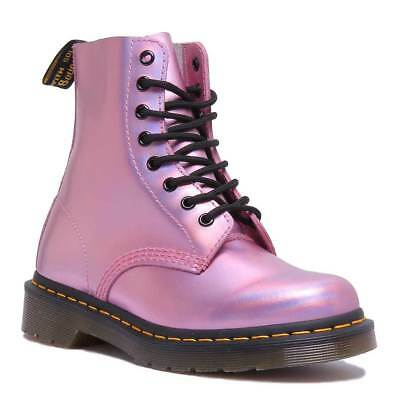 33b045be0074 Dr Martens 1460 Pascal Iced Metallic Women Leather Mallow Pink Ankle Boots  Size
