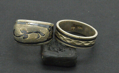 Antiquarian Silver Rings with pattern. 20 Century. 8gr