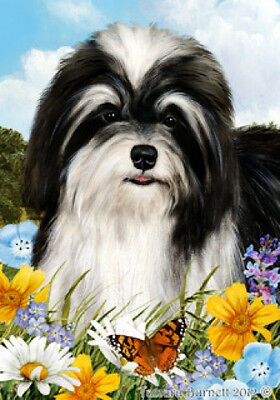 Garden Indoor/Outdoor Summer Flag - Black & White Havanese 180921