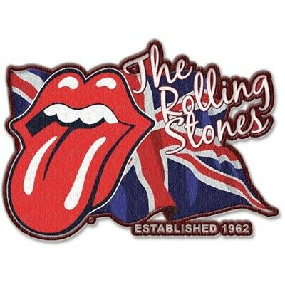 THE ROLLING STONES - Patch Aufnäher Lick the flag Gestickt Embroidery 9,0x6,4cm
