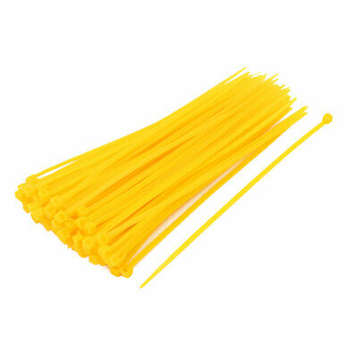 3x150mm Nylon autobloquant attaches câble fil industriel Liens Zip 100pcs jaune