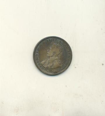 1924 Australia One Shilling Coin Better Middle Grade Circulated Coin