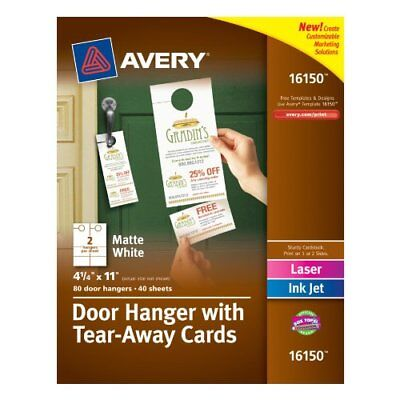 Avery Door Hanger With Tear-away Cards - White (AVE16150)