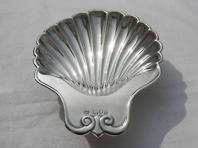Solid Silver Scalloped Shell Butter Dish London 1963 Robert Pringle
