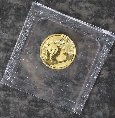 2015 China 1/10 Ounce Gold Panda Coin - 0.10 Troy Oz AGW - No Reserve