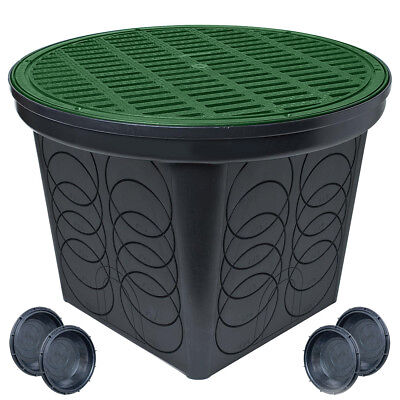 StormDrain FSD-3017-20BKIT 20 in. Large Round Catch Basin Green Grate Kit