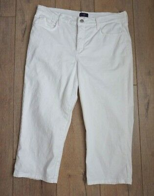 NYDJ not your daughters jeans-sz 14-capri-cropped-white- rhinestone pockets