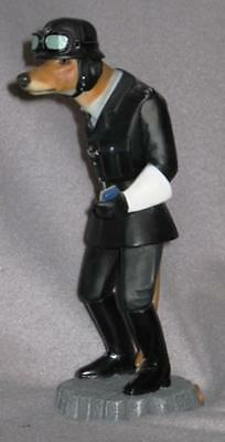 "Robert Harrop ""Doggie People"" Figurine--Greyhound Motorcycle Policeman"