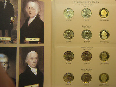 Presidential Dollar Set Complete 2007-2010 including proofs 48 coins Dansco