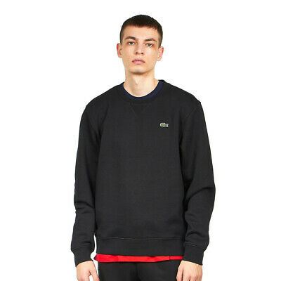 Lacoste - Brushed Fleece Sweater Black Pullover Rundhals