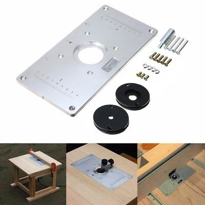 For woodworking benches aluminum router table insert plate with 4 aluminum router table insert plate with 4 rings screws for woodworking benches keyboard keysfo Image collections