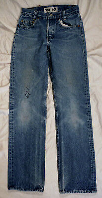 1983 USA Made LEVI'S 701 (501) Button Fly High Rise Student Fit Vtg Jeans 25X29