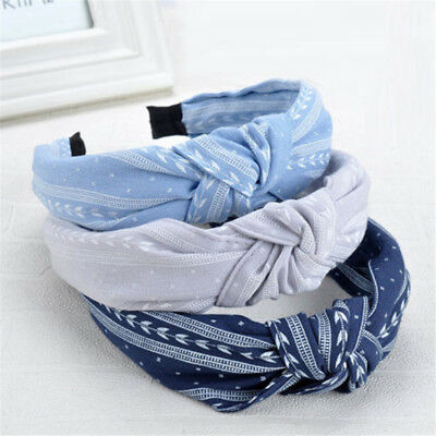 Women Girls Bowknot Wide Hairband Headband Solid Fashion Hair Accessories Exotic