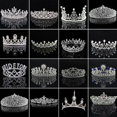 Wedding Bridal Kids Women Rhinestone Pageant Birthday Tiara Crown Headband Grand