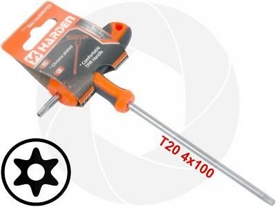 T20 T-Handle Torx Security Hole Pin 6 Point Star Key CRV Long Screwdriver Wrench