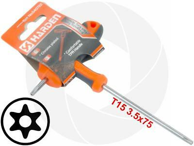 T15 T-Handle Torx Security Hole Pin 6 Point Star Key CRV Long Screwdriver Wrench