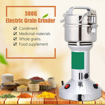 300G 220V  Electric Herb Grain Mill Grinder Wheat Cereal Flour Powder Machine