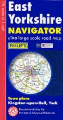 Philip's Navigator Road Map East Yorkshire by Unnamed Sheet map, folded Book The