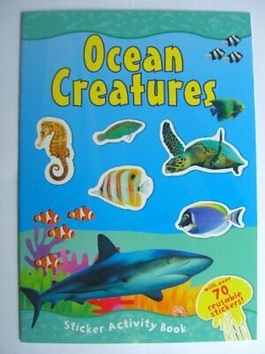 OCEAN CREATURES Sticker Activity Book (A4) Book The Cheap Fast Free Post