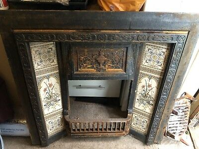 Victorian Style Tiles Cast Iron Fireplace