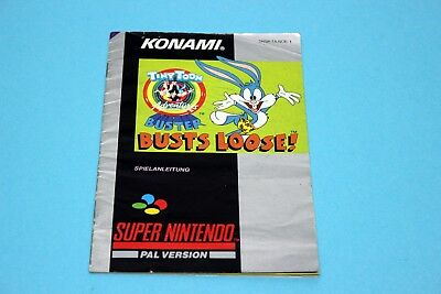Super Nintendo SNES - TINY TOON: BUSTS LOOSE - Spielanleitung, Manual, Booklet