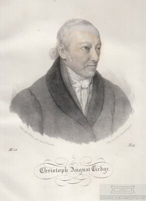 Christoph August Tiedge (1752 in Gardelegen - 1841 in Dresden). Original-Lithogr