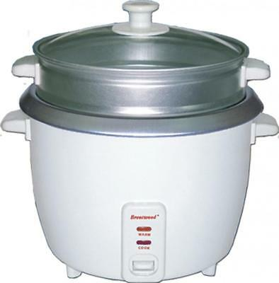 Brentwood Appliances TS380S 10 Cup Rice Cooker With Steamer White