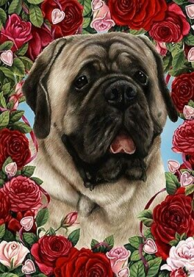 Garden Indoor/Outdoor Roses Flag - Silver Mastiff 192771