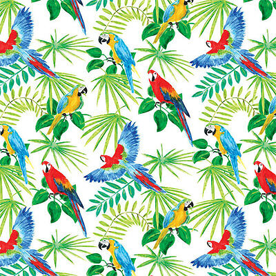Parrot Rain Forest Print Tissue Paper Multi Listing 500x750mm
