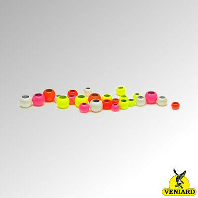 Veniard Hot Head Brass Beads for Fly Tying Various Colours and Sizes (HCB)