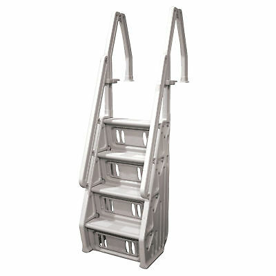 """Vinyl Works Deluxe In Step 46 - 60"""" Above Ground Swimming Pool Ladder, Taupe"""