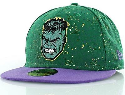 NEW ERA OFFICIAL 59FIFTY Fitted MARVEL Baseball Cap HULK Speckle * Various Sizes